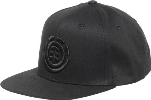 ELEMENT MENS CAP.NEW KNUTSEN BLACK BASEBALL FLAT PEAK ADJUSTABLE HAT 9W A8 37